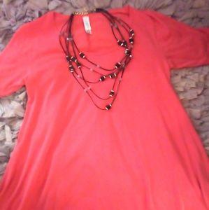 LulaRoe Pink Modal Drapey Comfy Tunic XS